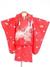 七五三(3歳女被布)被布sfth034赤/まり桜