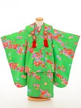 七五三(3歳女被布)被布sfth008緑/蝶花