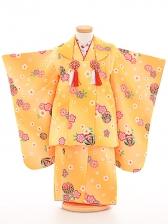 七五三(3歳女被布)被布sfth028黄色/まり桜