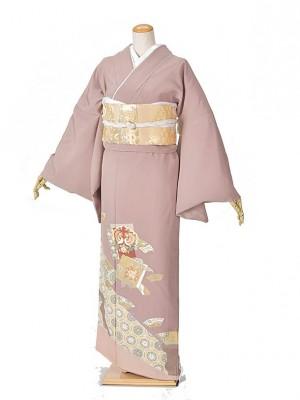 色留袖・結婚式・式典うす紫鳳凰