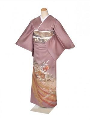 色留袖・結婚式・式典・薄あずき熨斗目
