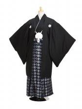 ジュニア黒紋付 正絹 紋袴 【小】 二