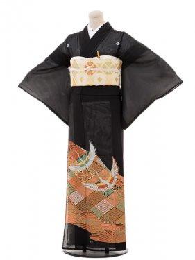 夏黒留袖tcr110花山景色