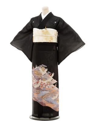 夏黒留袖tcr063京景色に鶴祥