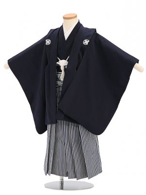 七五三(5歳男袴)sftm031しぶ紺/しぶ紺縦縞