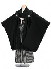 七五三(7歳男袴)sftm049黒無地/黒仙台縦縞