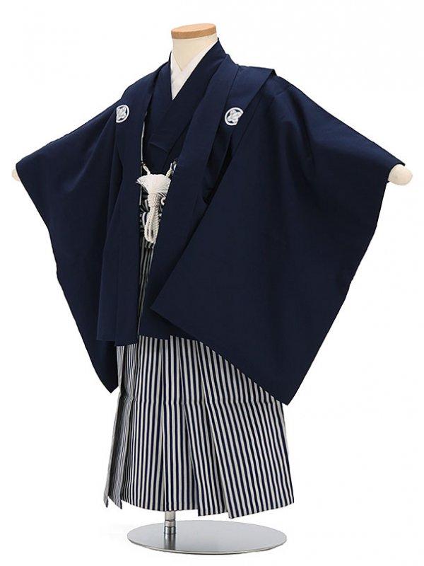 七五三(3歳男袴)sftm302濃紺無地/しぶ紺縦
