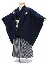 七五三(5歳男袴)sftm309濃紺無地/しぶ紺縦