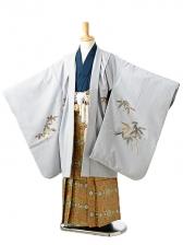 七五三(7歳男袴)sftm146グレー地笹兜/蜀江