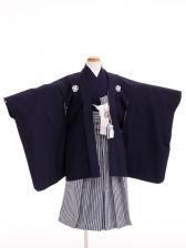 七五三(5歳男袴)sftm037しぶ紺無地/紺ヨロ