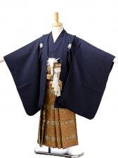 七五三(5歳男袴)sftm250しぶ紺無地/蜀江紋