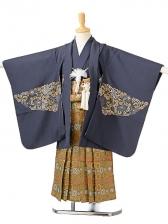 七五三(5歳男袴)sftm132紺地にタカ/蜀江紋
