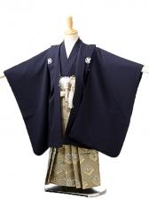 七五三(5歳男袴)sftm253しぶ紺無地/菱紋袴