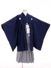 七五三(7歳男袴)sftm288濃紺無地/しぶ紺縦