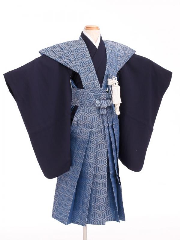 七五三(5歳男袴)sftm019青地亀甲紋裃