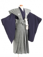 七五三(7歳男袴)sftm023鮫小紋裃