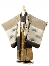 七五三(7歳男袴)sftm150白橡色鯉富士/蜀江