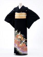 黒留袖Q5-70鶴松波