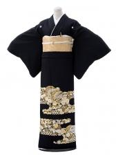 黒留袖レンタル5298総手刺繍文箱松菊橘