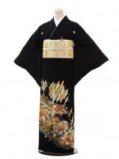 黒留袖レンタル5256寛斎飛鶴変わり柄2