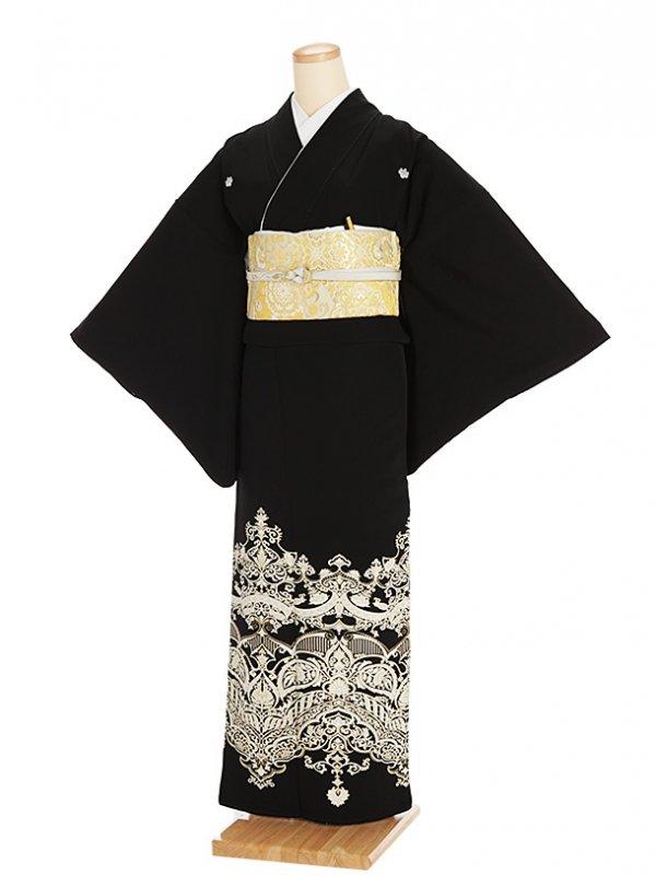 黒留袖レンタル5317更紗模様