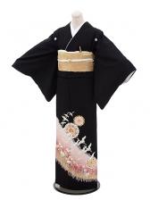 黒留袖レンタル5269流れ鶴に土筆
