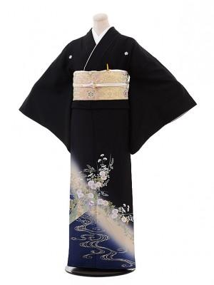 留袖 レンタル 5364 藤本隆士 扇に萩(らでん)
