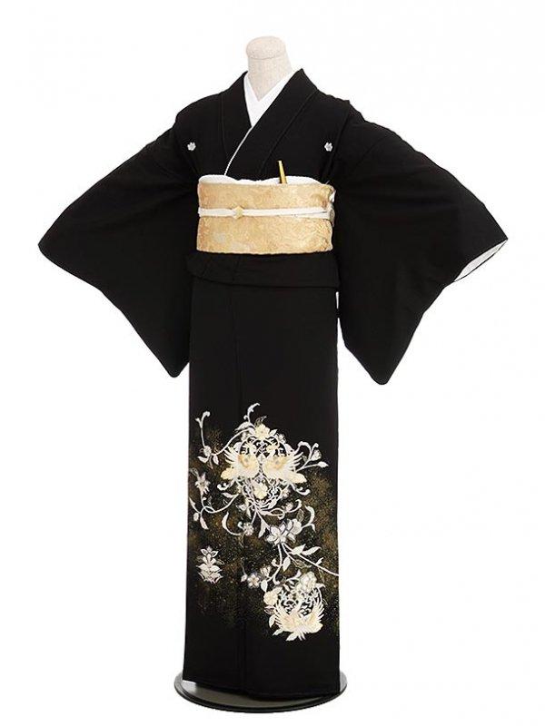 黒留袖レンタル5274山口美術織物鳳凰