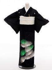 夏留袖5301グリーン銀松(化繊 絽)
