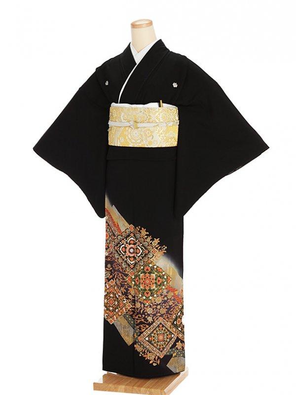 黒留袖レンタル5257寛斎菱鏡