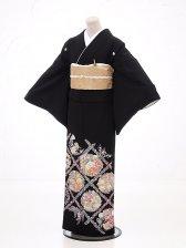 黒留袖レンタル5252花紋