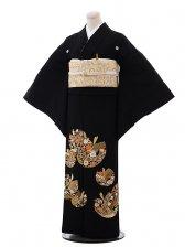 黒留袖レンタル5258変わり紋様刺繍