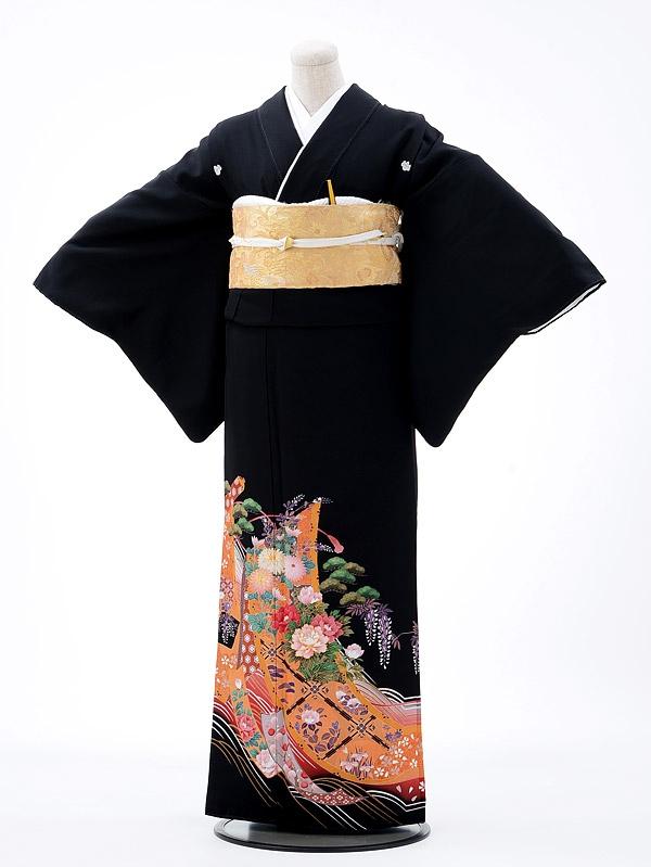 黒留袖レンタルQ5-71几帳松藤