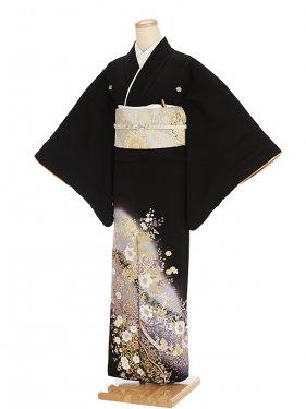 黒留袖レンタル5304桂由美バラ金彩
