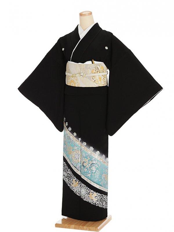 黒留袖レンタル5288更紗調唐草模様