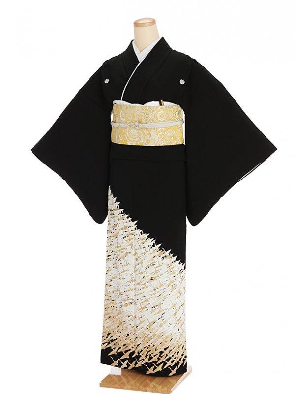 黒留袖レンタル5285千羽鶴