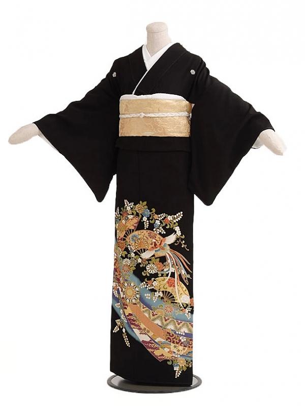 黒留袖レンタルC5019熨斗に鳳凰