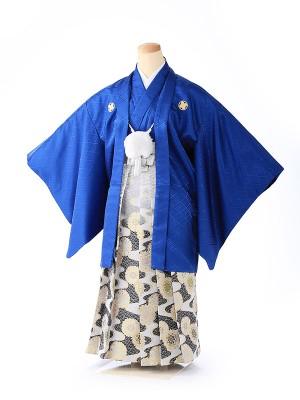 ジュニア男の子 紋付き袴 青 1329