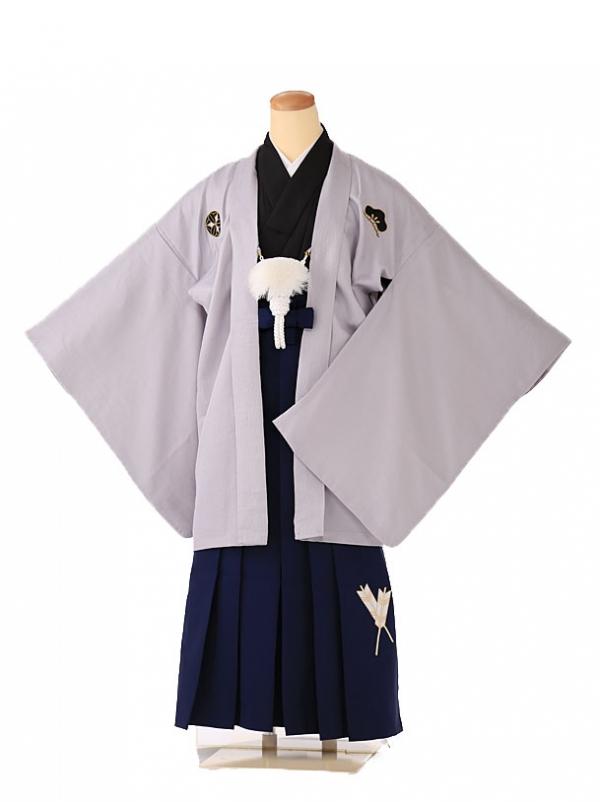 小学生 男袴 ジュニア グレー×紺 1344