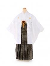 ジュニア 男 羽織 白菊菱 黒金若松袴