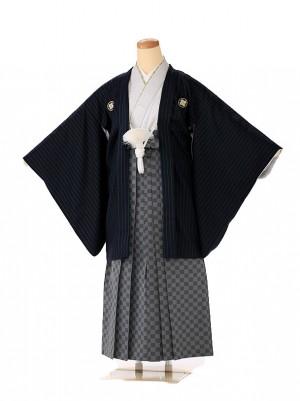 小学生 男袴 ジュニア 黒×グレー 1343