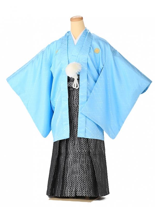 ジュニア男の子 羽織袴 水色 星 1342