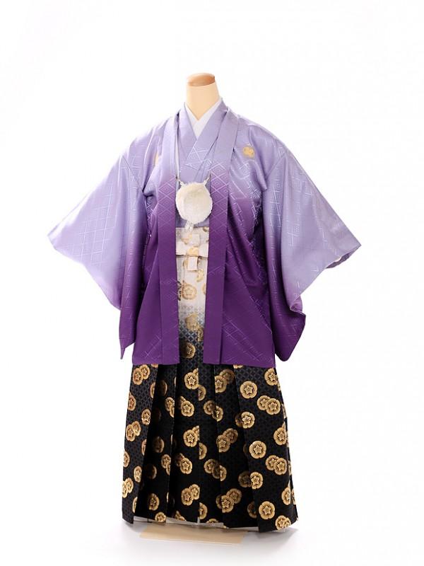男の子 紋付袴 13歳 紫 FC1319
