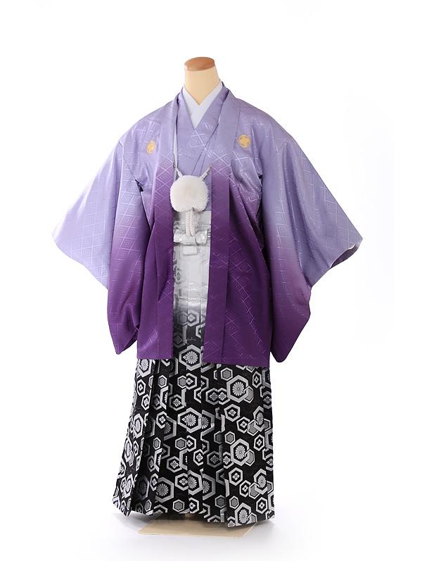 ジュニア男の子 羽織袴 紫ボカシ 1337