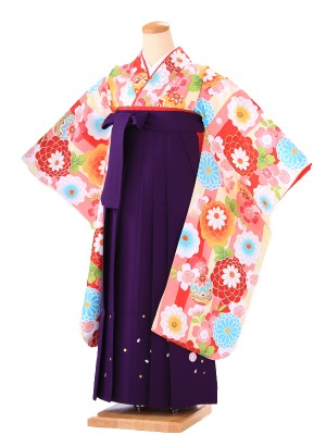 卒業式 女袴 B002 小町キッズ ピンク