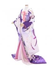 色打掛838/紫/バラリボン/ウノ