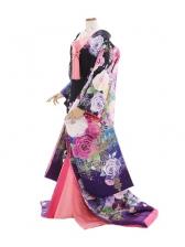 色打掛862/紫/シャンデリアバラ