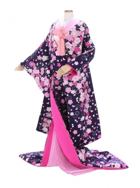色打掛861/紫/ピンク桜/ウノ