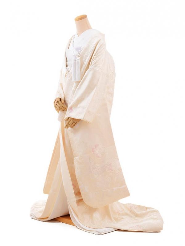 白無垢レンタルE162 洋花 鶴