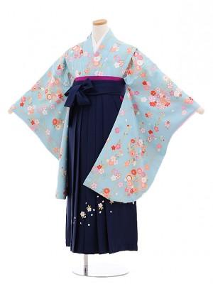 小学生卒業式袴(女の子)E028/水色/枝小花